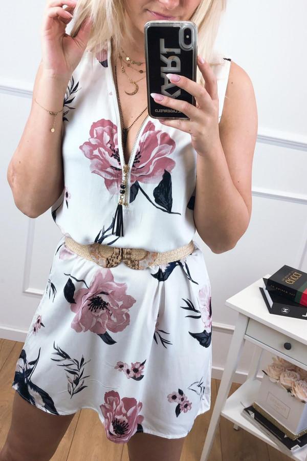 Sukienka MISS SARA Kwiatek ZIP 6