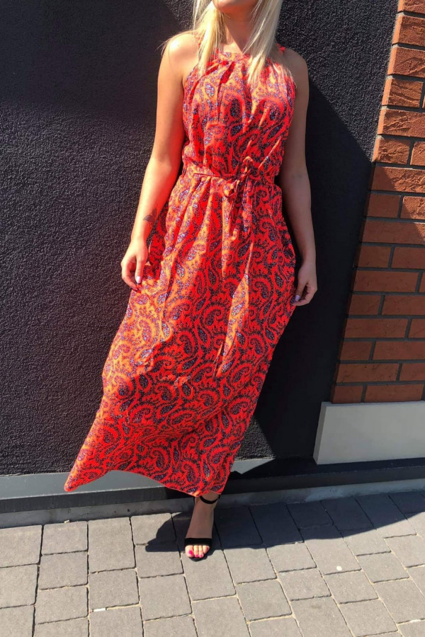 Sukienka ORANGE Miss Sara Maxi 1