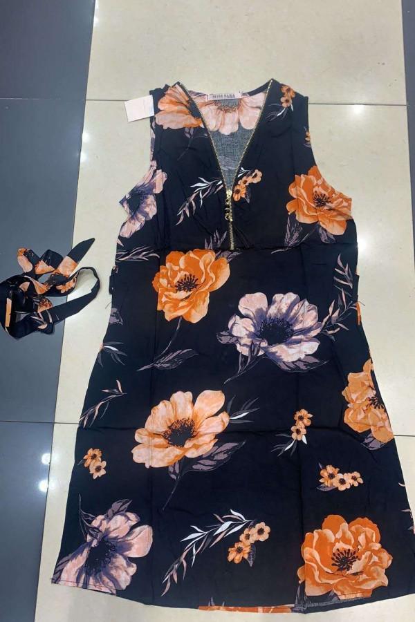 Sukienka MISS SARA Kwiatek ZIP 3