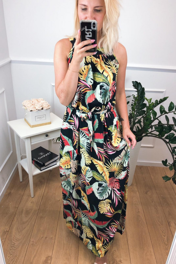 Sukienka MULTICOLOR Miss Sara Maxi 2