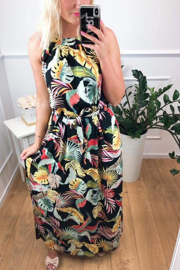 Sukienka MULTICOLOR Miss Sara Maxi 3