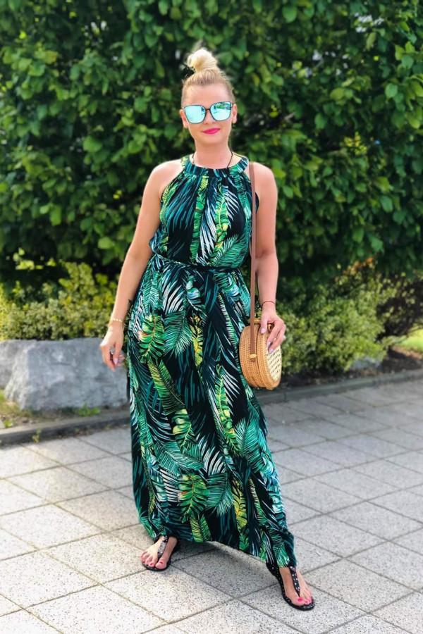 Sukienka LIŚCIE Miss Sara Maxi