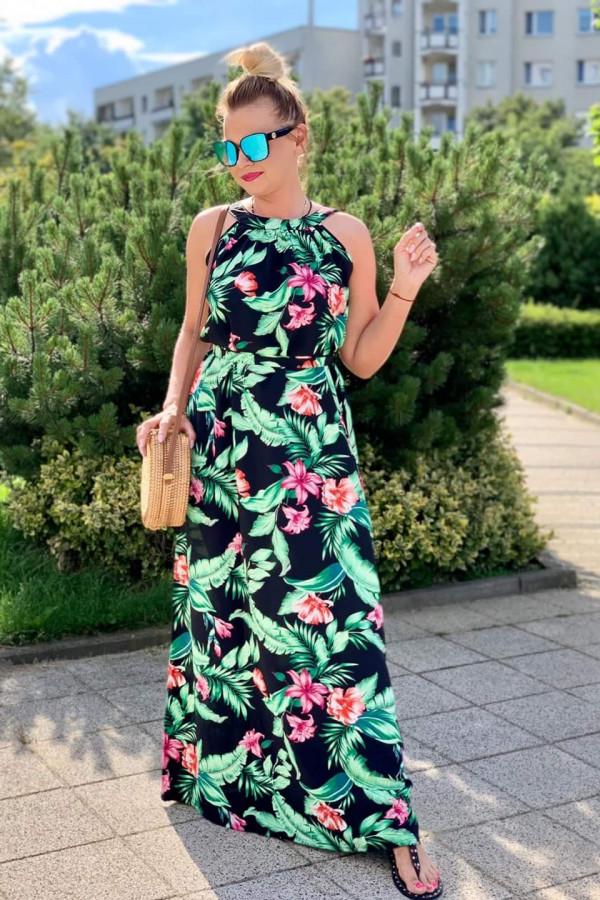 Sukienka ŁĄKA Miss Sara Maxi 3