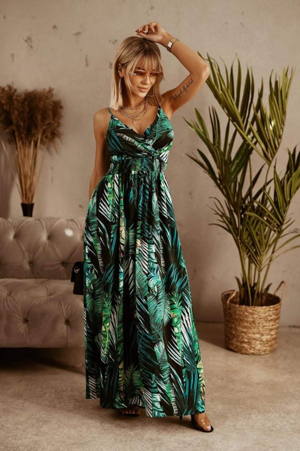 Sukienka LIŚCIE Miss Sara Slim 1