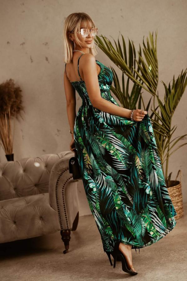 Sukienka LIŚCIE Miss Sara Slim 2