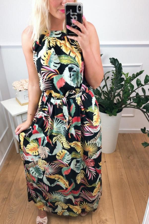 Sukienka MULTICOLOR Miss Sara Maxi