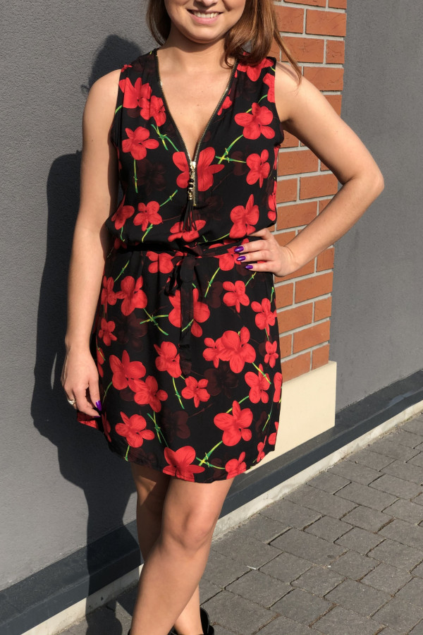 Sukienka RED POPPIES Miss Sara Zip