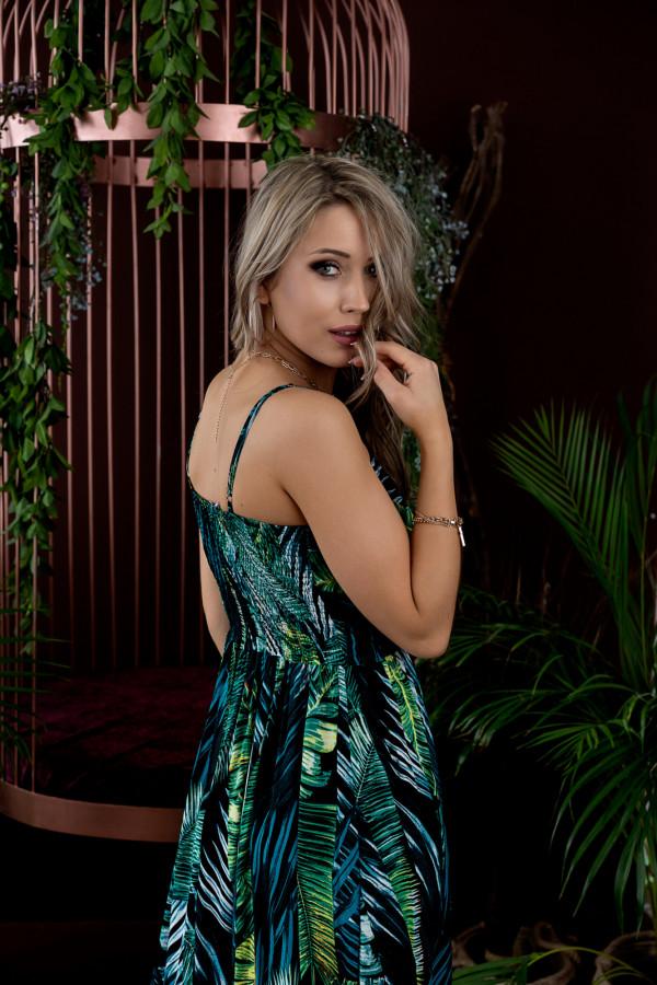 Sukienka LIŚCIE Miss Sara Slim 4