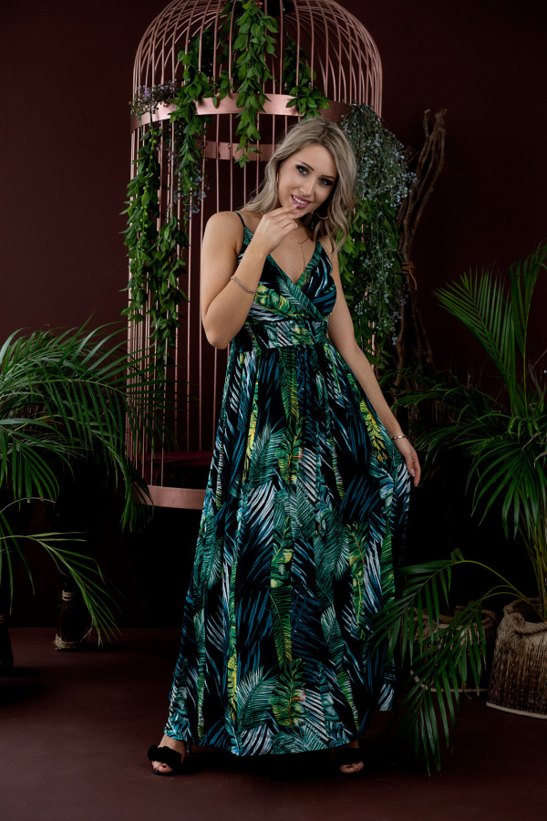 Sukienka LIŚCIE Miss Sara Slim 5