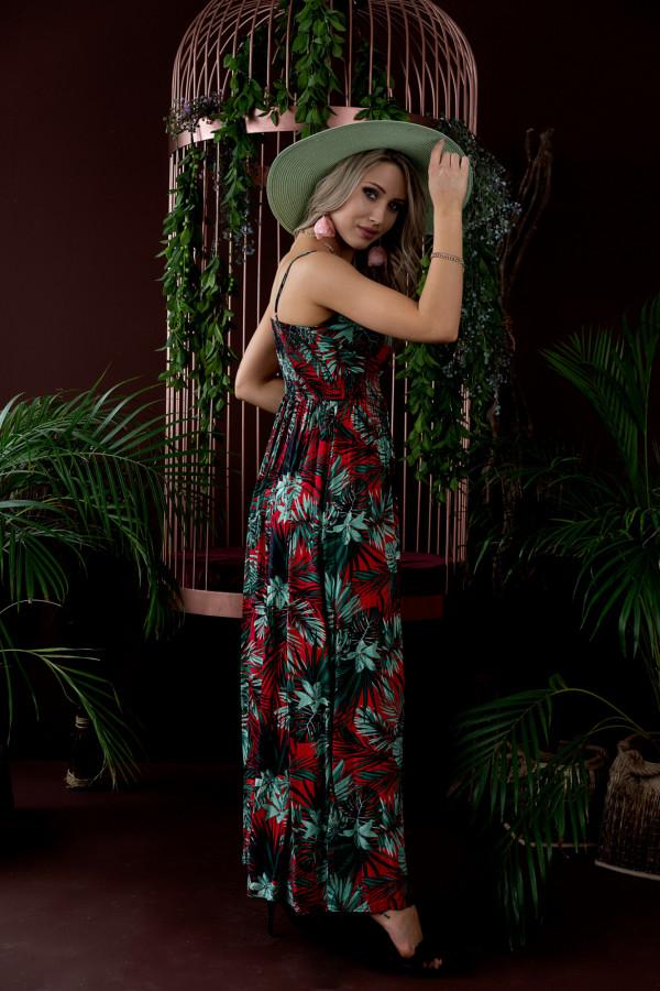 Sukienka HAWAII RED Miss Sara Slim 1