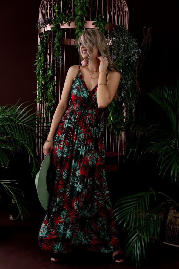 Sukienka HAWAII RED Miss Sara Slim 3