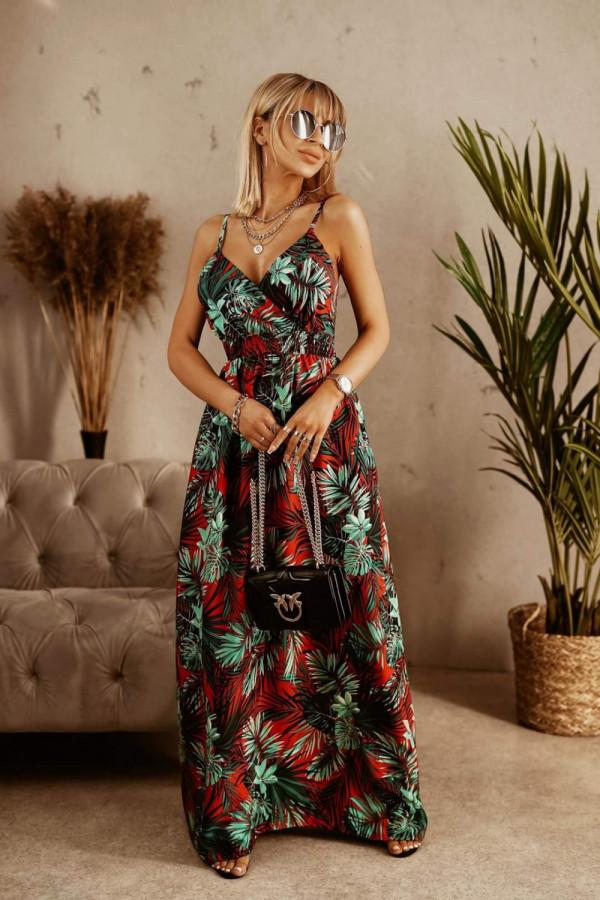Sukienka HAWAII RED Miss Sara Slim 4
