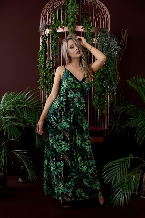 Sukienka HAWAII BLACK Miss Sara Slim 2