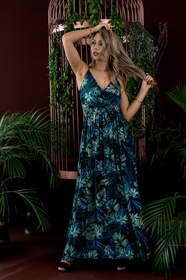 Sukienka HAWAII BLUE Miss Sara Slim
