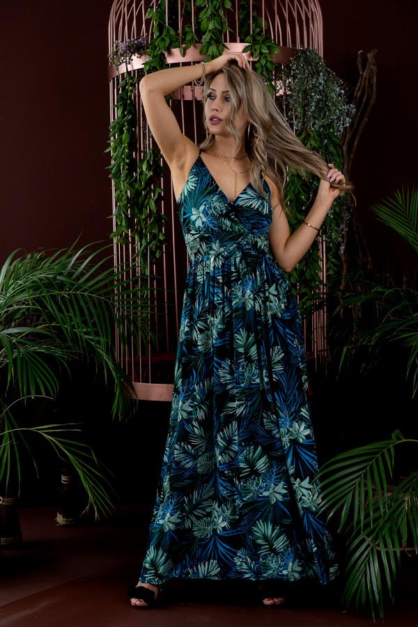Sukienka HAWAII BLUE Miss Sara Slim 1