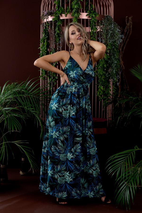 Sukienka HAWAII BLUE Miss Sara Slim 3