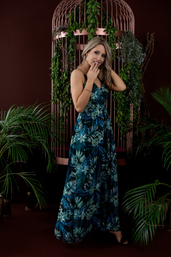 Sukienka HAWAII BLUE Miss Sara Slim 4