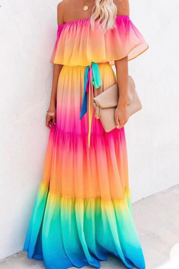 Sukienka AMANDA RAINBOW