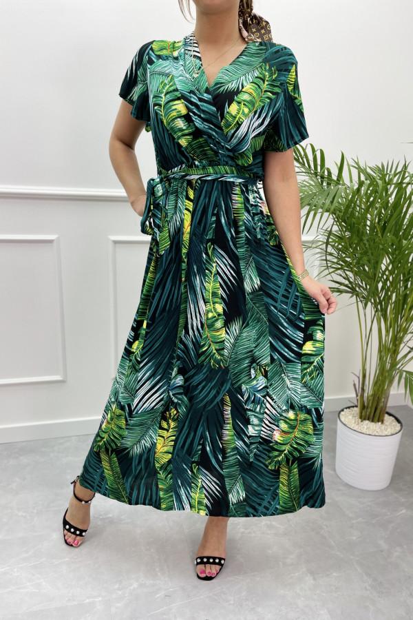 Sukienka LIŚCIE Miss Sara Sleeves