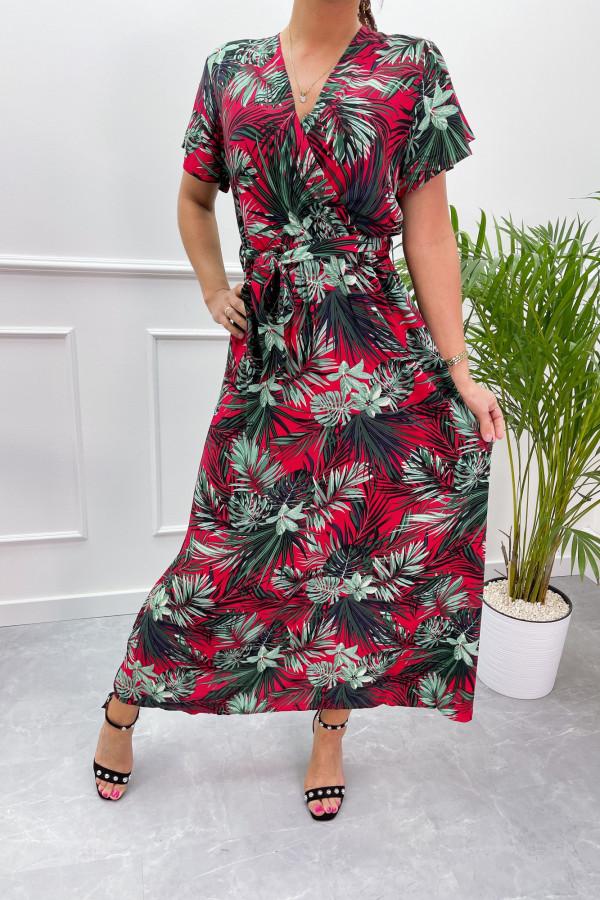 Sukienka HAWAII RED Miss Sara Sleeves 3