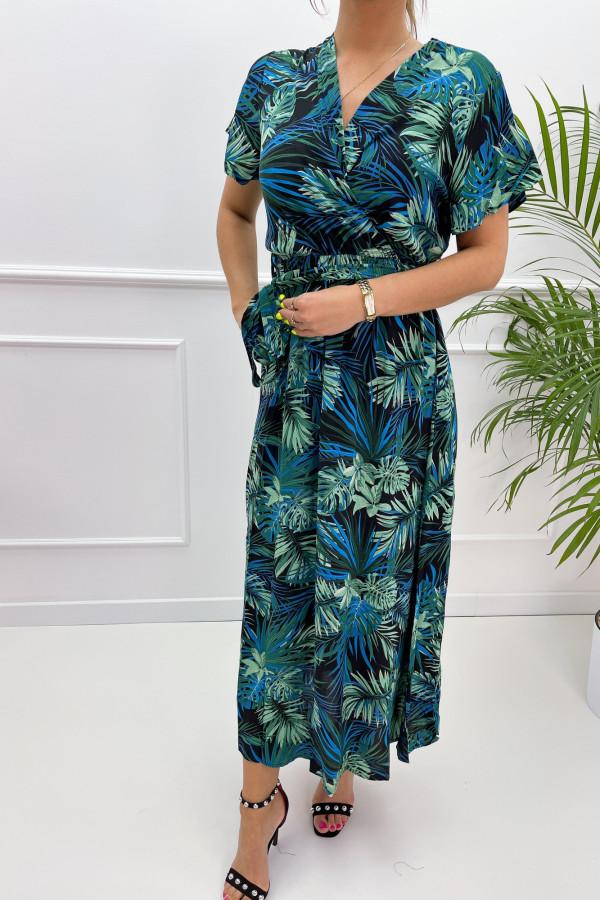 Sukienka HAWAII BLUE Miss Sara Sleeves