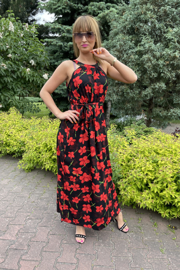 Sukienka RED POPPIES Miss Sara Maxi 2