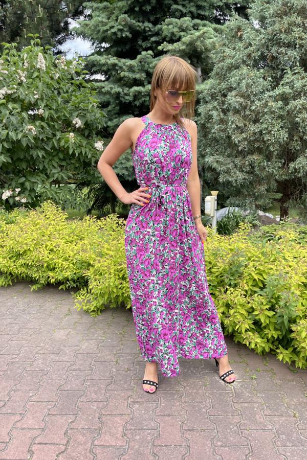 Sukienka MAKI VIOLET Miss Sara Maxi 2