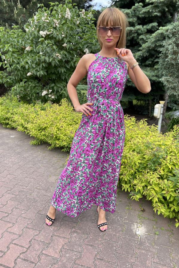 Sukienka MAKI VIOLET Miss Sara Maxi 3