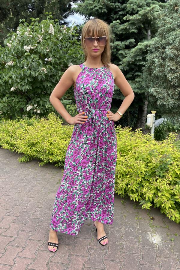 Sukienka MAKI VIOLET Miss Sara Maxi 4