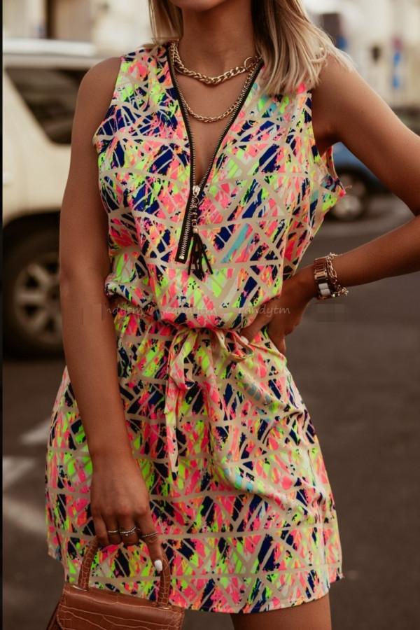 Sukienka MOZAIKA Miss Sara Zip