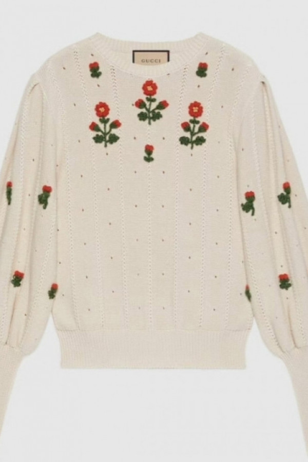 Sweter FLOWER GUCCI 1